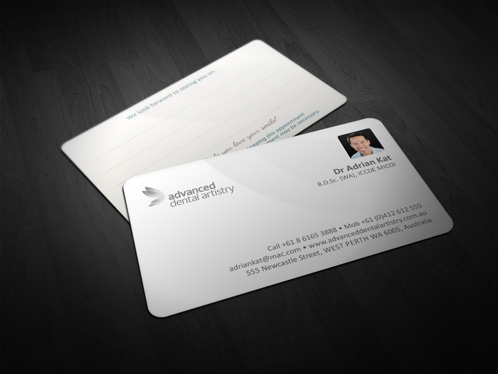 Advanced Dental Artistry business cards | True Design Perth
